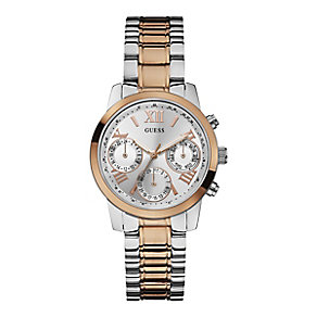 Guess Ladies' Mini Sunrise Two Tone Watch - Product number 2317540