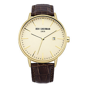 Ben Sherman Men's Portobello Professional Brown Watch - Product number 2317729