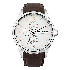 Ben Sherman Men's Spitalfields Multi-Function Brown Watch - Product number 2317826