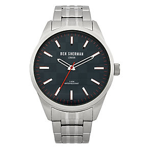 Ben Sherman Men's Big Carnaby Check Stainless Steel Watch - Product number 2317893