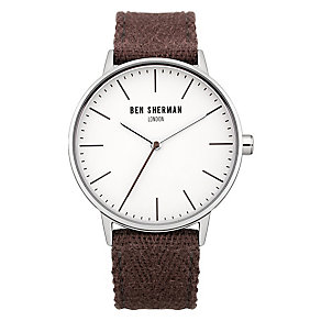 Ben Sherman Men's Portobello Social Purple Canvas Watch - Product number 2317923