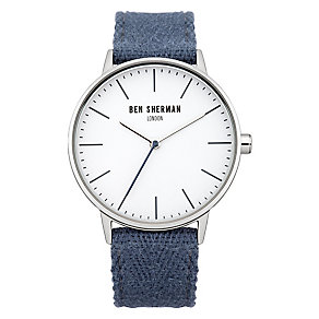 Ben Sherman Men's Portobello Social Blue Canvas Watch - Product number 2317931