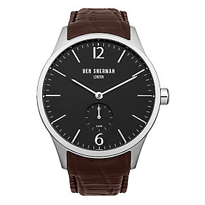 Ben Sherman Men's Spitalfields Day Date Brown Leather Watch - Product number 2318024