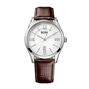 Hugo Boss men's leather strap watch - Product number 2318989