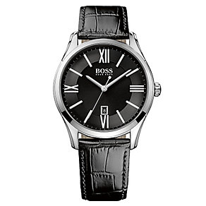 Hugo Boss men's black leather strap watch - Product number 2319055