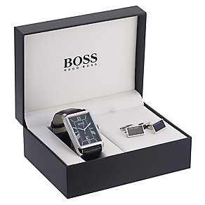 Hugo Boss men's strap watch & cufflink set - Product number 2319276