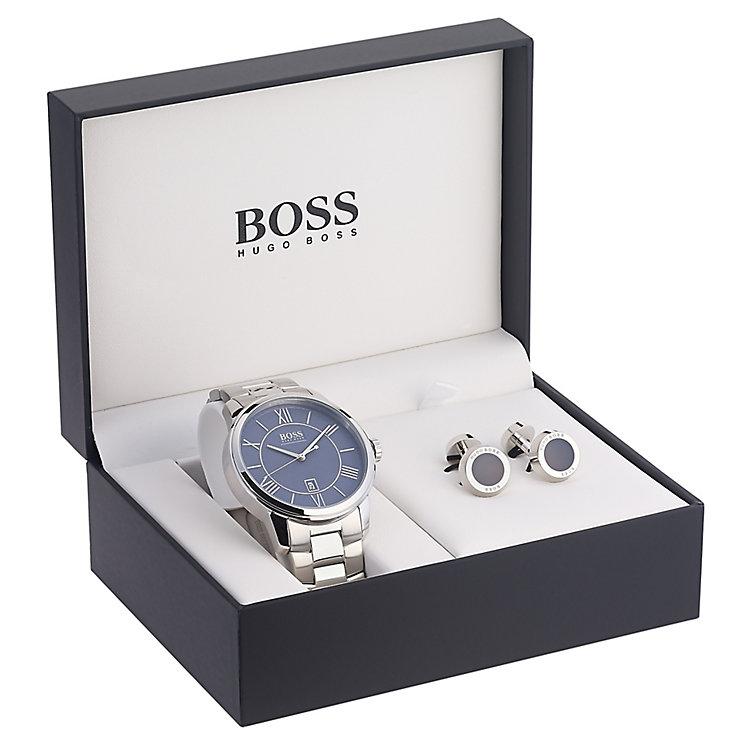 Ernest Jones Hugo Boss Mens Bracelet Watch amp Cufflink Set