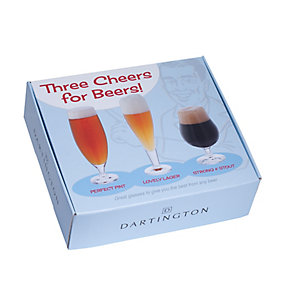 Three Cheers For Beers Glass Gift Set - Product number 2320142