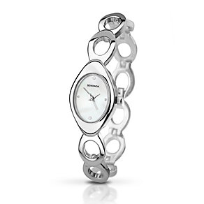 Sekonda Ladies' Silver Tone Oval Design Watch - Product number 2320185