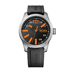 Boss Orange Men's Black Silicone Strap Watch - Product number 2320657