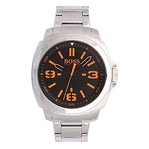 Boss Orange Men's Black Dial Stainless Steel Bracelet Watch - Product number 2320665
