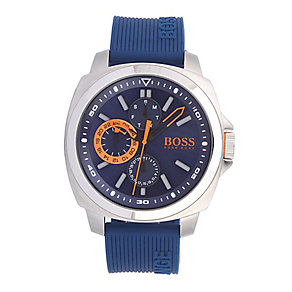 Hugo Boss Orange Men's Navy Blue Silicone Strap Watch - Product number 2320673