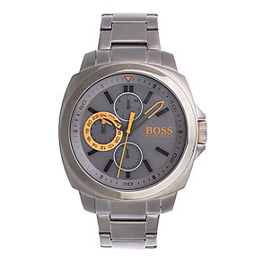 Boss Orange Men's Grey Dial Stainless Steel Bracelet Watch - Product number 2320681