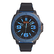Hugo Boss Orange Men's Black And Blue Silicone Watch - Product number 2320703