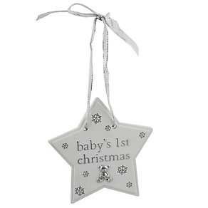 Childhood Memories Baby's 1st Christmas Star Plaque - Product number 2322625