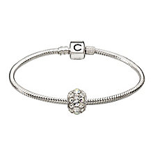 Chamilia Silver Snap Bracelet With Swarovski Crystal Bead - Product number 2322749
