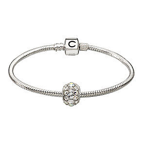 Chamilia Silver Snap Bracelet With Swarovski Elements Bead - Product number 2322749