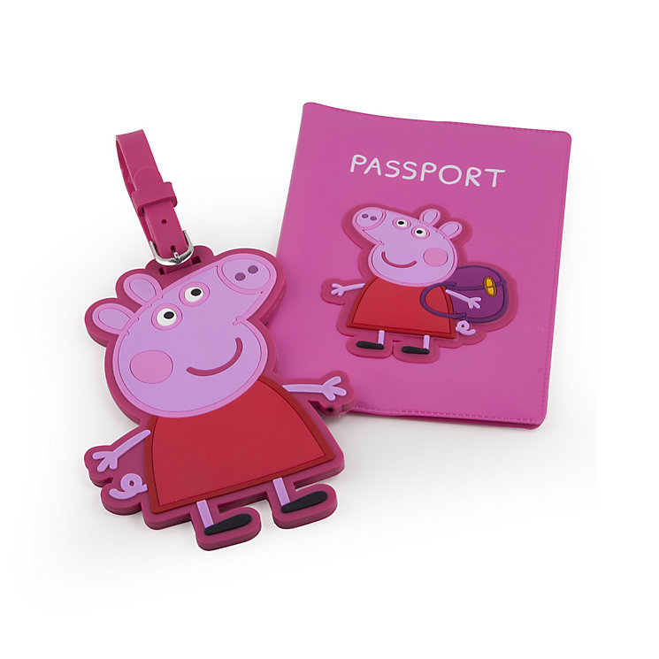 Peppa Pig Passport Holder and Luggage Tag