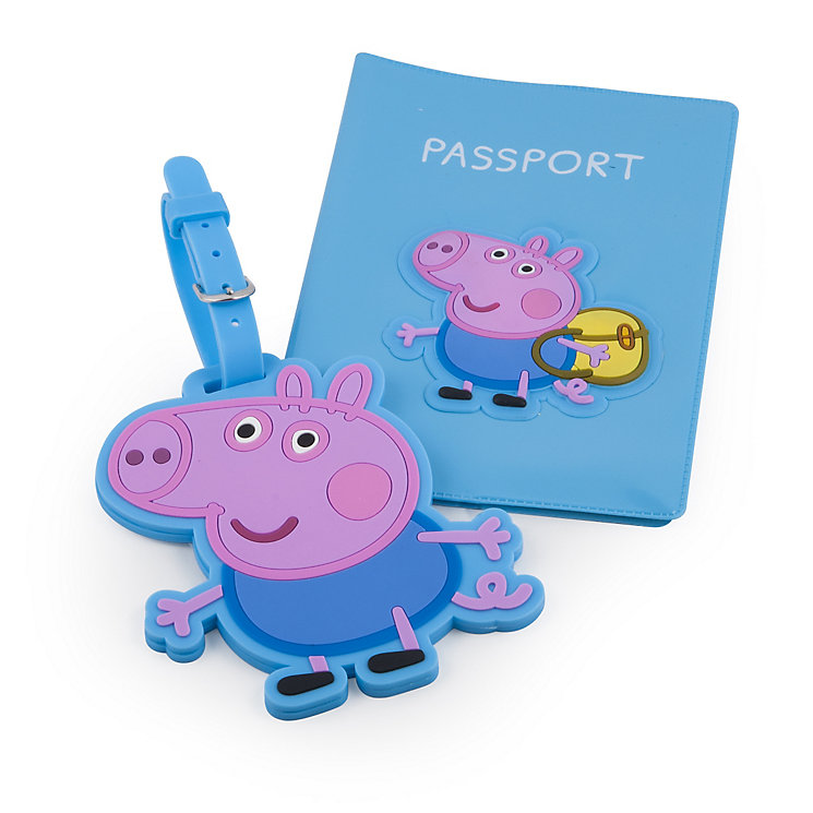 George Pig Passport Holder and Luggage Tag