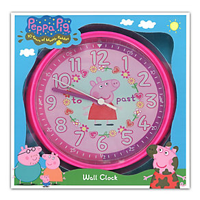 Peppa Pig Pink Wall Clock - Product number 2322811