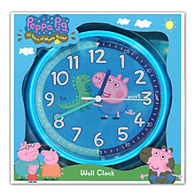 George Pig Blue Wall Clock - Product number 2322838