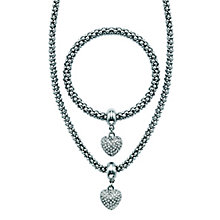 Buckley Rhodium Plated Crystal Set Bracelet and Necklace Set - Product number 2323362