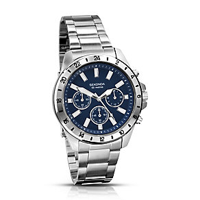 Sekonda Men's Navy Dial & Stainless Steel Bracelet Watch - Product number 2323486