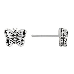 Sterling Silver Butterfly Stud Earrings - Product number 2324288
