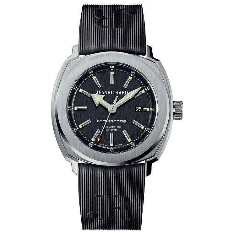 JEANRICHARD men's black rubber strap watch - Product number 2326671