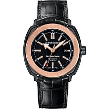 JEANRICHARD men's black leather strap watch - Product number 2326701