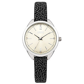 Oasis Ladies' Black Beaded Strap Watch - Product number 2327651