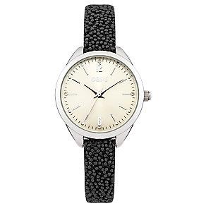 Oasis Ladies' Black Beaded Strap Watch - Product number 2327651