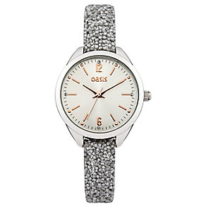 Oasis Ladies' Grey Beaded Strap Watch - Product number 2327678