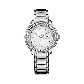 Tommy Hilfiger Ladies' Stainless Steel Crystal Set Watch - Product number 2328984