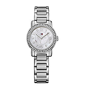 Tommy Hilfiger Ladies' Mother of Pearl Crystal Set Watch - Product number 2329042