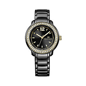 Tommy Hilfiger Ladies' Crystal Set Black Bracelet Watch - Product number 2329050