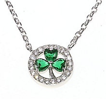 Cailin Sterling Silver & Cubic Zirconia Clover Pendant - Product number 2329522