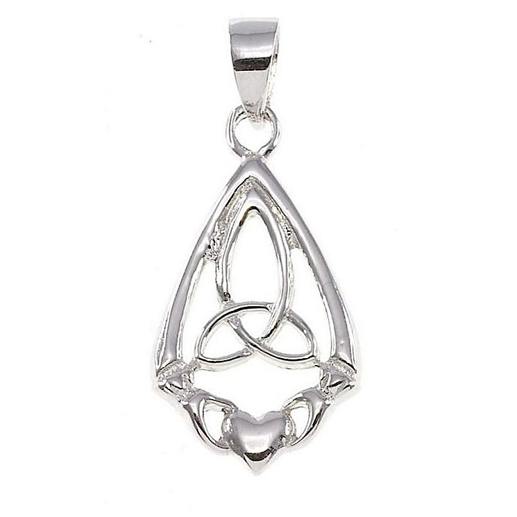 Cailin Sterling Silver Triple Knot Claddagh Pendant - Product number 2329530