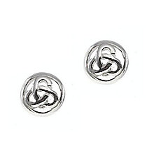 Cailin Sterling Silver Triple knot Round Stud Earrings - Product number 2329557