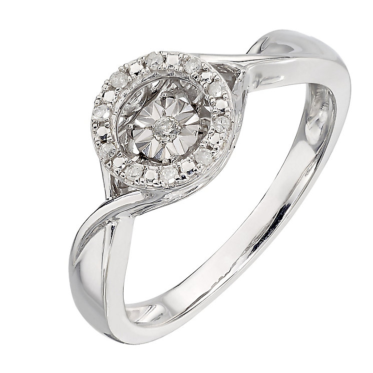 Diamonds In Rhythm Sterling Silver Round Diamond Ring - Product number 2329719