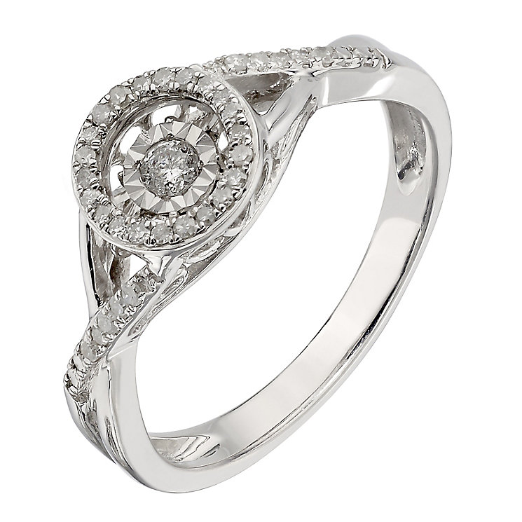 Diamonds In Rhythm Sterling Silver Round Diamond Ring - Product number 2329980