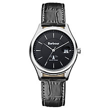 Barbour Heaton men's stainless steel leather strap watch - Product number 2332604