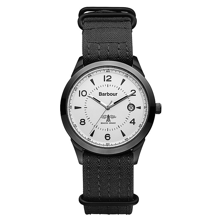 Barbour Redley men's black canvas strap watch - Product number 2332639