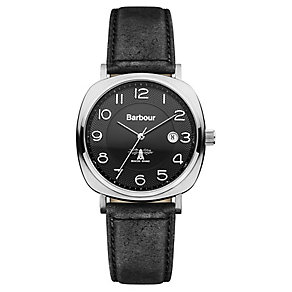Barbour Redley men's black leather strap watch - Product number 2332647