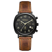 Barbour Beacon men's chronograph brown leather strap watch - Product number 2332655