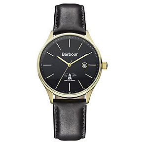 Barbour Glysdale men's black leather strap watch - Product number 2332671