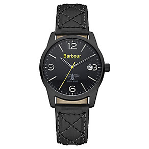 Barbour Alanby men's ion-plated black fabric strap watch - Product number 2332728