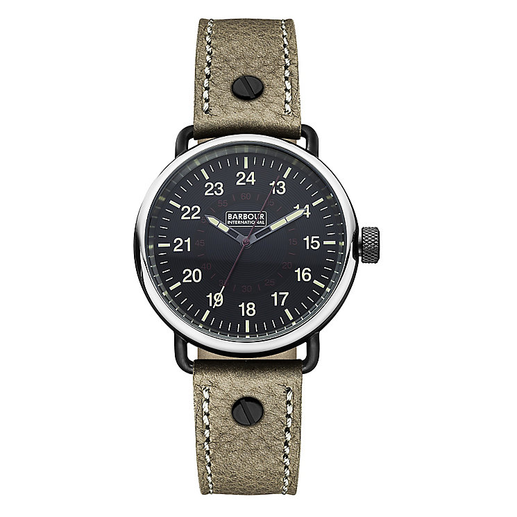 Barbour International Fowler men's leather strap watch - Product number 2332760