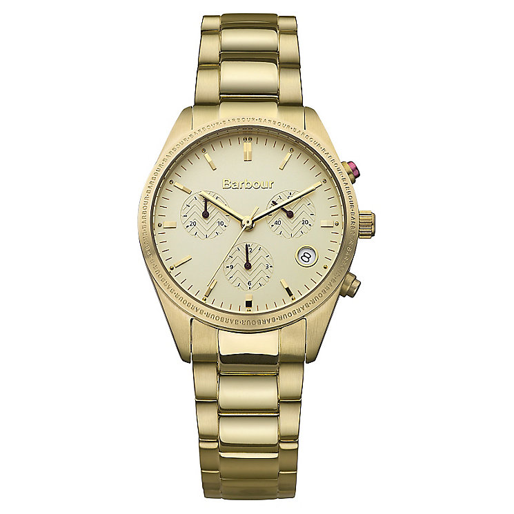 Barbour Ridley ladies' gold-plated bracelet watch - Product number 2333244