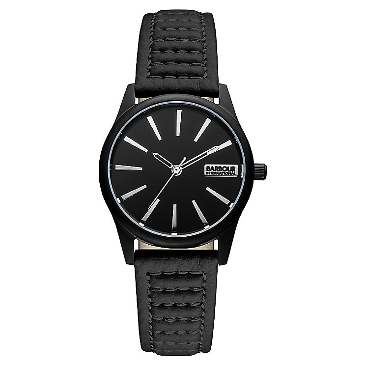 Barbour International Bewick men's black leather strap watch - Product number 2333597